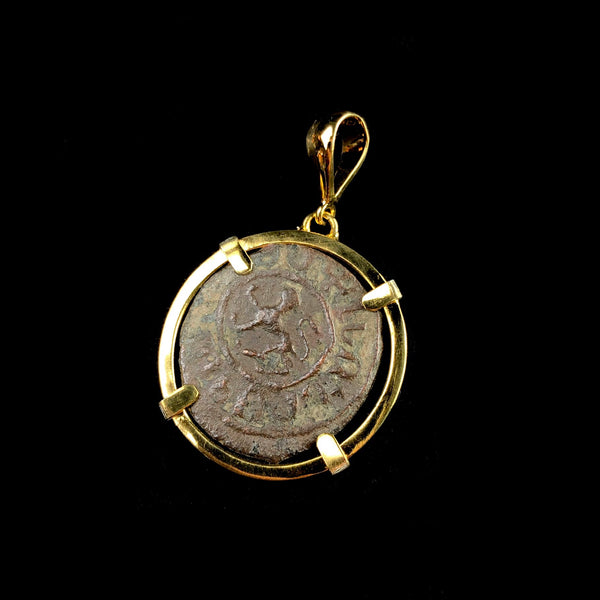 Gold Coin of the Crusades Pendant W