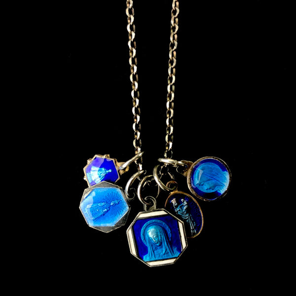 "18"" Vintage Enamel Mary Necklace B"