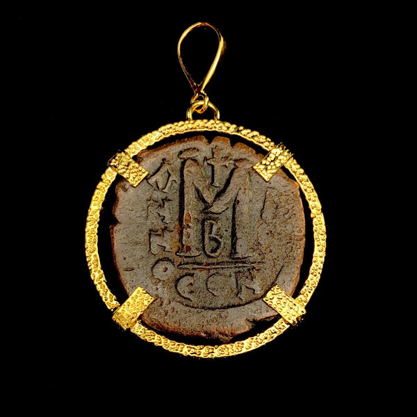 Gold Byzantine Coin Pendant