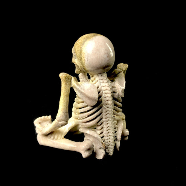 Seated Yoga Skeleton Carving