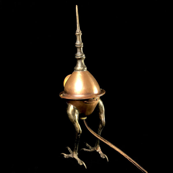 Cicada Lamp with Gold Lustre Glass