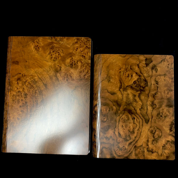 Walnut Burr Wood Journal- Extra Large