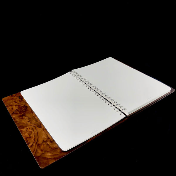 Walnut Burr Wood Journal- Large