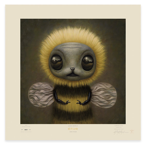 Bee Lithograph