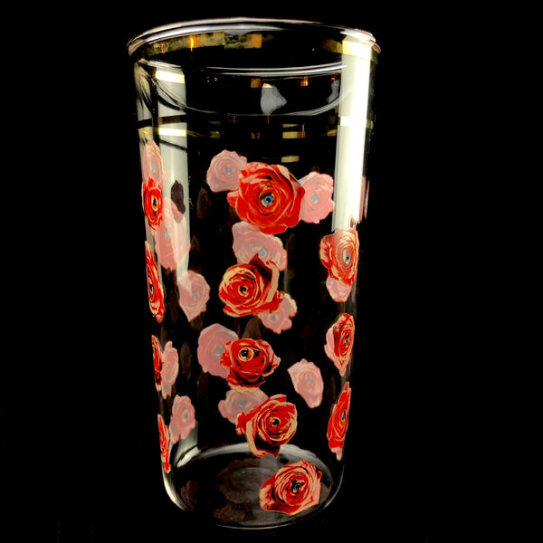 Peeping Roses Drinking Glass