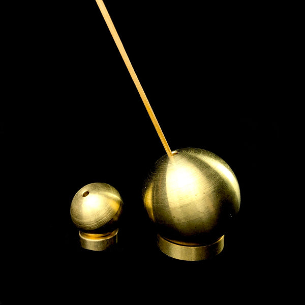 Small Spherical Brass Incense Holder