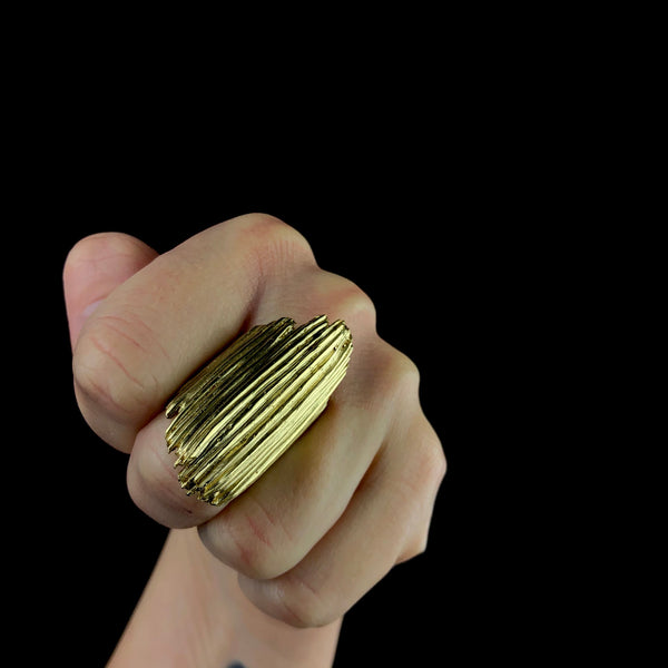Brass Matchstick Ring