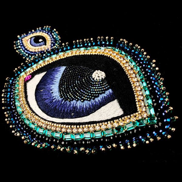 XL Blue Eye Brooch