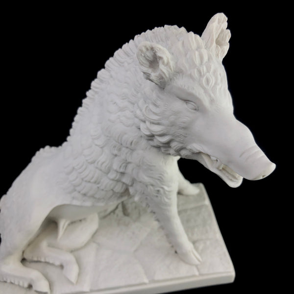 Marble Boar Sculpture