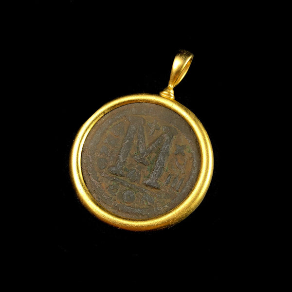 Gold Byzantine Coin Pendant R