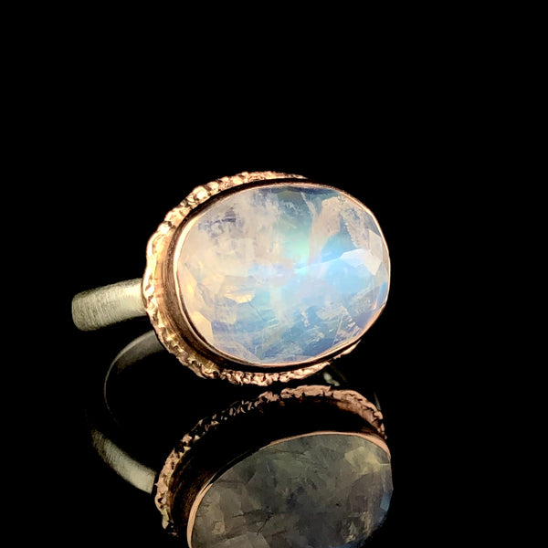 Faceted Moonstone Ring