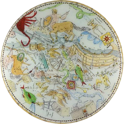 John Derian decoupage tray, vintage ephemera collage
