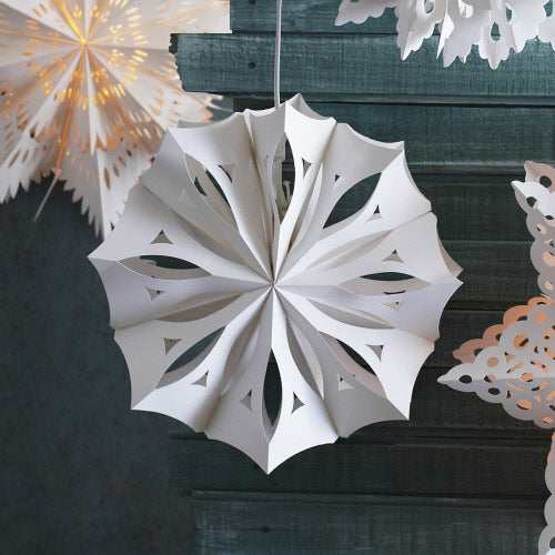 Paper Cutout Snowflake light DIY