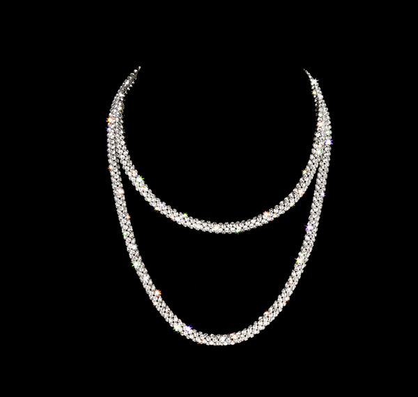 Clear Crystal Swarovski Cable Necklace
