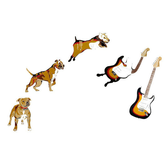 Dog Bass Guitar