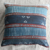 Linen Art Cushion - Red hue pattern