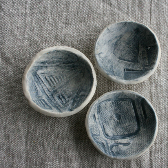 Handbuilt  Ceramics - Three small bowls