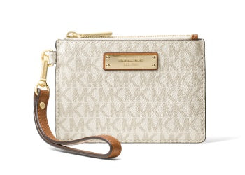 MK Small Signature Coin Purse Vanilla