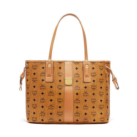 MCM Liz Medium Shopper Cognac