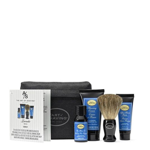 The Art of Shaving Starter Kit with Bag - Lavender