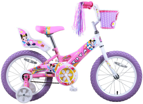 "Titan Flower Girl's 16"" Bike - Flower Princess"