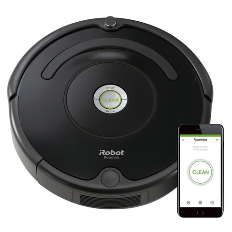 iRobot - Roomba 675 App-Controlled Self-Charging Robot Vacuum - Black