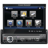 "Power Acoustik PTID-8920B 7"" Single-DIN In-Dash Motorized Touchscreen LCD DVD Receiver"