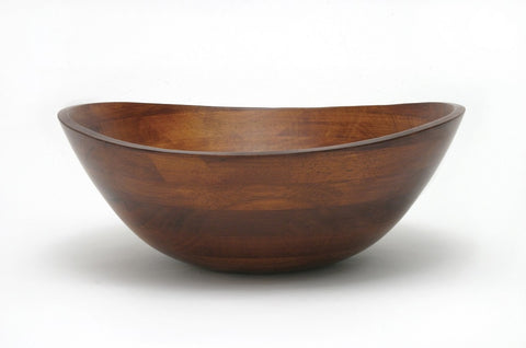 Lipper Large Wavy Bowl with Cherry Finish