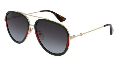 Gucci Aviator Sunglasses - Gold/Green