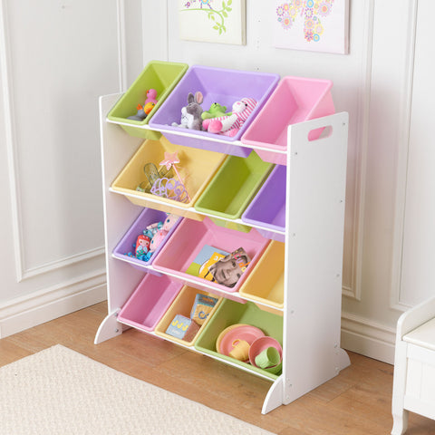 KidKraft Sort It & Store It Bin Unit - White