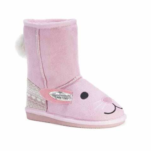 MUK LUKS Kid's Bonnie Pink Bunny Boots Pink 8