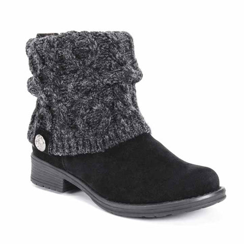 MUK LUKS Women's Pattrice Boots Black 8