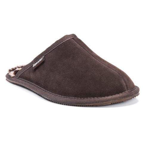 MUK LUKS Men's Dave Scuff Slippers Chocolate 13