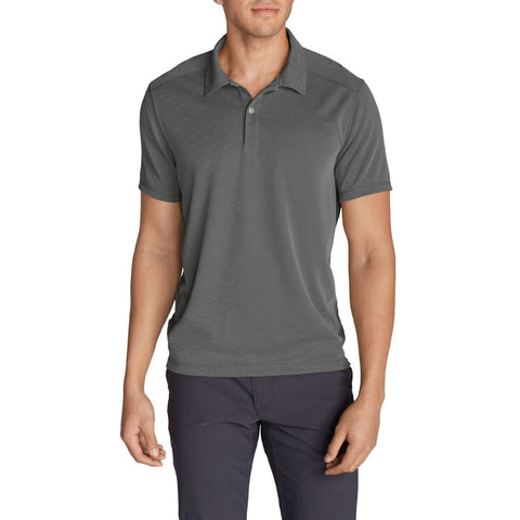 Eddie Bauer Men's Regular SS Polo Dark Smoke XXL
