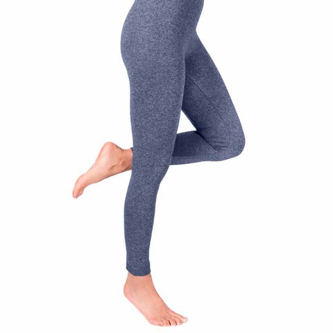 MUK LUKS Women's Marl Fleece-Lined Leggings Grey M/L
