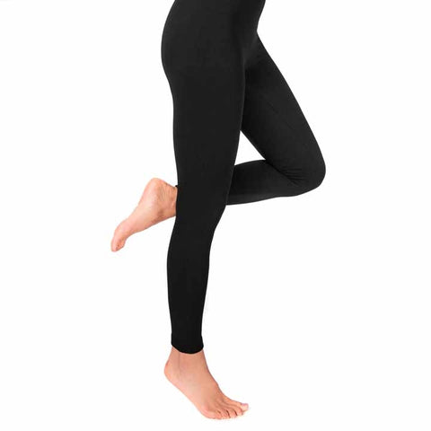 MUK LUKS Women's Fleece-Lined Leggings Black 1X/2X