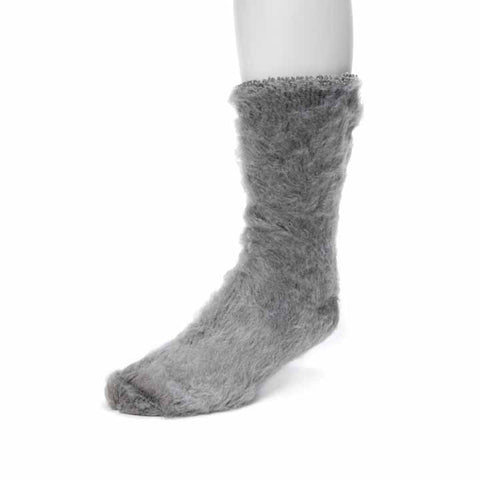 MUK LUKS Men's 1-Pair Heat Retainer Thermal Socks Grey OSFM