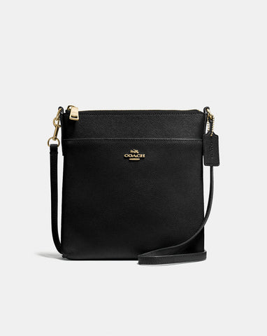 Coach Messenger Crossbody in Crossgrain Leather Black