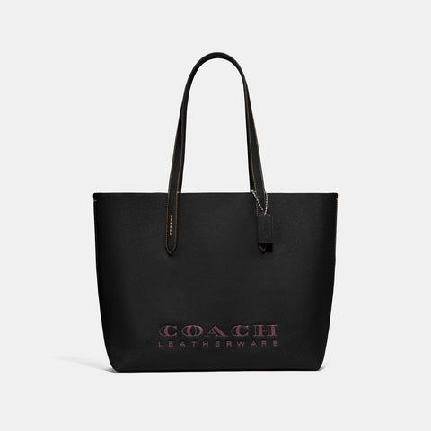 Coach Crossgrain Leather Highline Tote Black