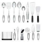 OXO Steel Kitchen Utensil Set (Set of 15)