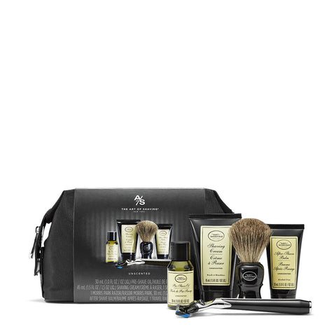 The Art of Shaving Travel Kit with Razor- Unscented