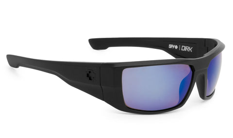 SPY Optic Dirk Matte Black - Happy Bronze Polar W/ Blue Spectra