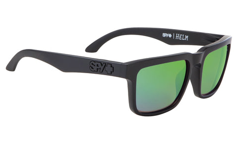 SPY Optic Helm Matte Black - Happy Bronze Polar W/ Green Spectra
