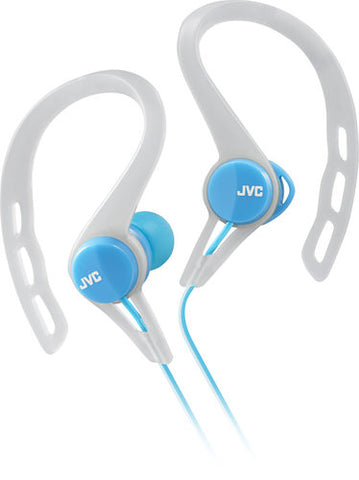 JVC Ear ClipOn Earbud Headphones Blue