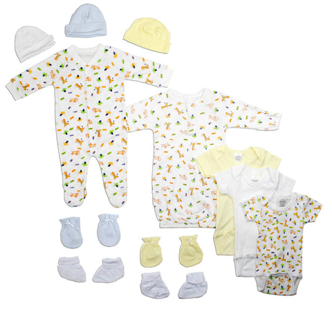 Bambini Newborn Baby Boys 12 Pc Layette Baby Shower Gift Set