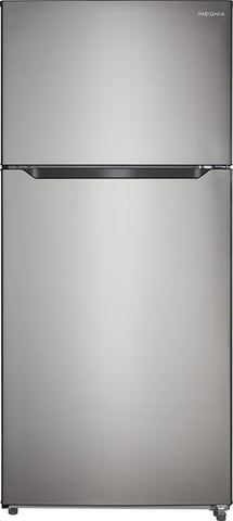 Insignia - 18 Cu. Ft. Top-Freezer Refrigerator NS-RTM18SS7 (w/Kit)