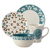 Rachael Ray Pendulum 16pc Dinnerware Set Agave/Brown