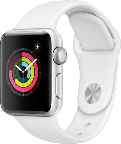 Apple Watch Series 3 (GPS) - Silver Aluminum/White 38mm