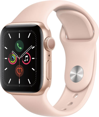 Apple Watch Series 5 (GPS) 40mm Gold Aluminum Case with Pink Sand Sport Band - Gold Aluminum
