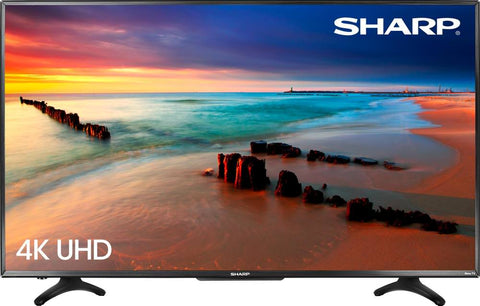 "Sharp 50"" LED - 2160p - Smart - 4K Ultra HD TV Roku TV - Black"